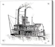Steamboat Bill   The Arabia Acrylic Print by John Simlett