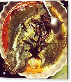 #steamed #talbot #dried #tangerine Acrylic Print