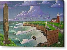 Steamer Lane Acrylic Print