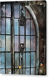 Steampunk - Gear - Importance Of Industry  Acrylic Print by Mike Savad