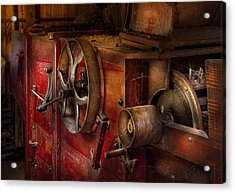 Steampunk - Gear - It Used To Work Acrylic Print by Mike Savad