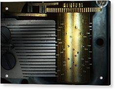 Steampunk - Gears - Music Machine Acrylic Print by Mike Savad