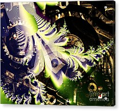 Steampunk Abstract Fractal . S2 Acrylic Print by Wingsdomain Art and Photography