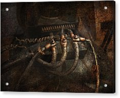 Steampunk - Electrical - Frayed Connections Acrylic Print by Mike Savad