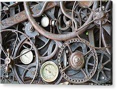 Steampunk Gears Acrylic Print by Mandi Howard