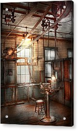 Steampunk - Machinist - The Grinding Station Acrylic Print by Mike Savad