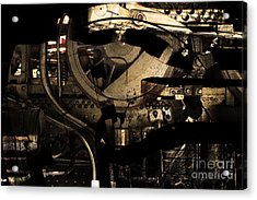 Steampunk Patent 1215 Prototype A . Gold Version Acrylic Print by Wingsdomain Art and Photography