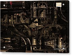 Steampunk Patent 1215 Prototype B . Gold Version Acrylic Print by Wingsdomain Art and Photography