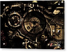 Steampunk Personal Decompression Chamber Model 39875da78803 Fully Accessorized . Gold Plated Luxury  Acrylic Print by Wingsdomain Art and Photography
