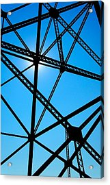Acrylic Print featuring the photograph Steampunk Sky Web by Trever Miller