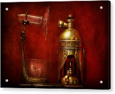 Steampunk - The Torch Acrylic Print by Mike Savad