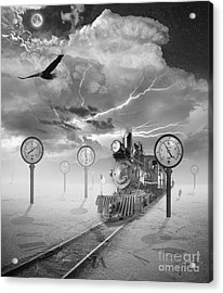 Steampunk Traveler Acrylic Print by Keith Kapple