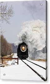 Steamtown Excursion Train Acrylic Print by Michael P Gadomski and Photo Researchers
