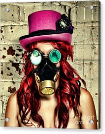 Steamy Punky Acrylic Print by Aetherial Pictography