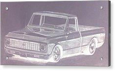 Steel 72 Acrylic Print by Bradley   Howell