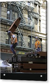 Steel And Girders Acrylic Print by Cathy Brown