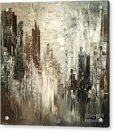 Acrylic Print featuring the painting Steel Towers by Tatiana Iliina