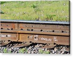 Steel Tracks Acrylic Print by Mark McReynolds