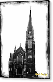 Acrylic Print featuring the photograph Steeple Chase 1 by Sadie Reneau