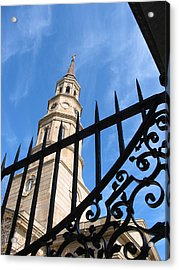Acrylic Print featuring the photograph Steeples by Lyn Calahorrano