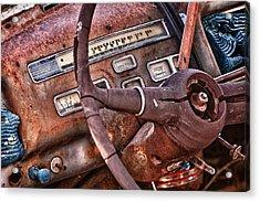 Steering Wheel Acrylic Print by Richard Steinberger