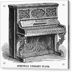 Steinway Piano, 1878 Acrylic Print by Granger
