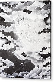 Stellar Moon Acrylic Print by Stephen Ford