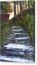 Step To The Light With Poem Acrylic Print