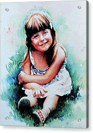 Stephanie Acrylic Print by Hanne Lore Koehler