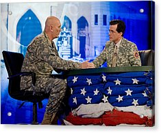 Stephen Colbert Interviews Marine Acrylic Print by Everett