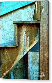 Acrylic Print featuring the photograph Stepping Up To The Blues by Newel Hunter