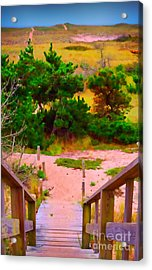Acrylic Print featuring the photograph Steps - Surfside Beach by Jack Torcello