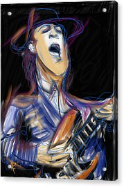 Stevie Ray Acrylic Print by Russell Pierce
