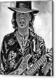 Stevie Ray Vaughan 1 Acrylic Print by Peter Chilelli