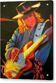 Stevie Ray Vaughn Acrylic Print