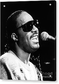 Stevie Wonder 1986 Acrylic Print by Chris Walter