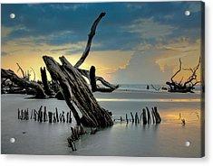 Sticks In The Sand Acrylic Print