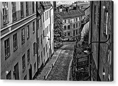 Acrylic Print featuring the photograph Stieg Larsson's Stockholm by Nancy De Flon