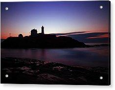 Still Dawn Cape Neddick Acrylic Print by Rick Berk