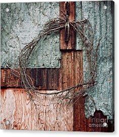 Still Decorated With A Wreath Acrylic Print by Priska Wettstein