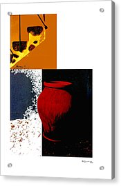 Still Life Collage Acrylic Print by Xoanxo Cespon