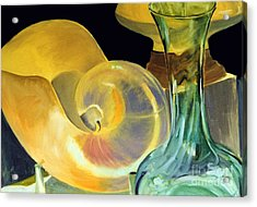 Still Life Green And Yellow Acrylic Print