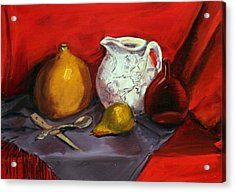 Still Life In Red Acrylic Print
