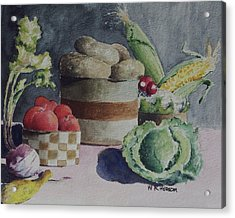 Still Life Number Four Acrylic Print by W R  Hersom