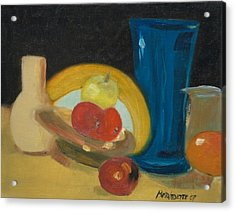 Acrylic Print featuring the painting Still Life Of Fruit by Bernadette Krupa