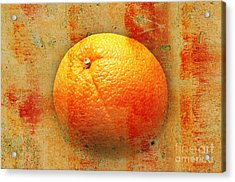 Still Life Orange Abstract Acrylic Print by Andee Design