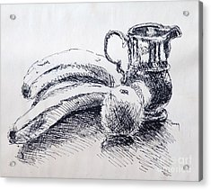 Acrylic Print featuring the drawing Still Life by Rod Ismay