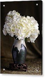 Still Life Vase With Hydrangeas Acrylic Print
