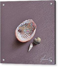 Still Life With Abalone Shell Acrylic Print by Elena Kolotusha