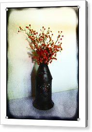 Still Life With Berries Acrylic Print by Judi Bagwell